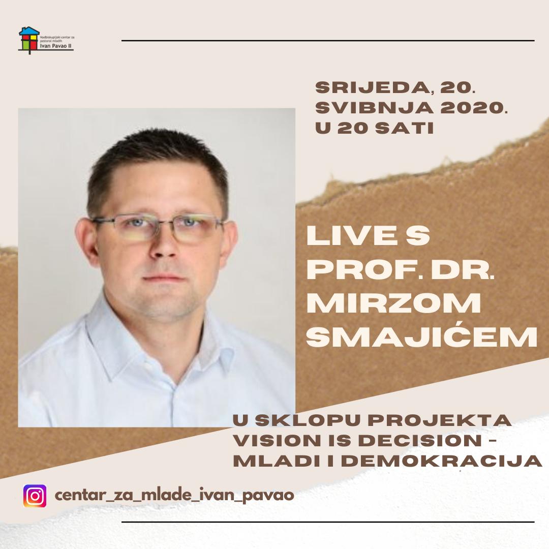 Najava za live prof. Smajic