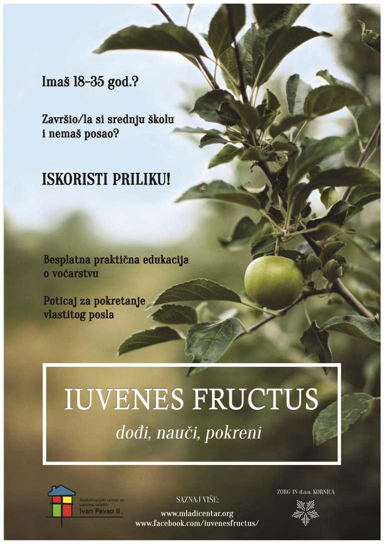 """Zatvorene prijave za novi ciklus edukacije mladih u projektu """"Iuvenes Fructus"""""""